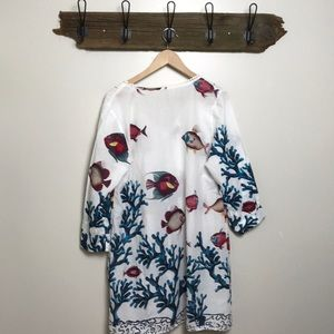 Soft Surroundings Dresses - Soft Surroundings Tropical Coral Beach Dress